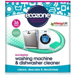Ecozone Washing Machine & Dishwasher Cleaner - Eucalyptus - 36 Tablets