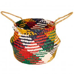 Multi Colour Seagrass Rice Basket
