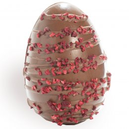 Cocoa Loco Milk Chocolate & Raspberry Easter Egg - 225g