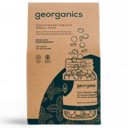 Georganics Mouthwash Tablets - English Peppermint - 720 Refill