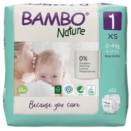 Bambo Nature Disposable Nappies - Newborn - Pack of 22