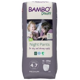 Bambo Nature Girls Dreamy Night Pants - 4-7 - Pack of 10
