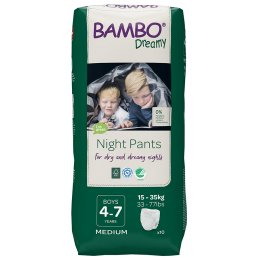 Bambo Nature Boys Dreamy Night Pants - 4-7 - Pack of 10