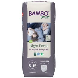 Bambo Nature Girls Dreamy Night Pants - 8-15 - Pack of 10