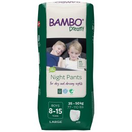 Bambo Nature Boys Dreamy Night Pants - 8-15 - Pack of 10