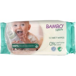 Bambo Nature Biodegradable Wet Wipes - Pack of 50