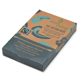 ecoLiving Organic Fairtrade Cotton Buds - Pack of 100