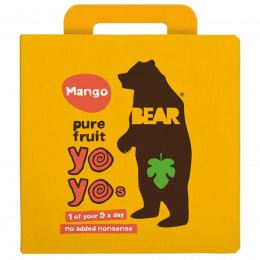 Bear Mango Yoyo Pure Fruit Rolls Multipack - 5 x 20g