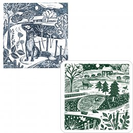 RSPB Moon & Meadow Christmas Cards - Twin Pack of 10