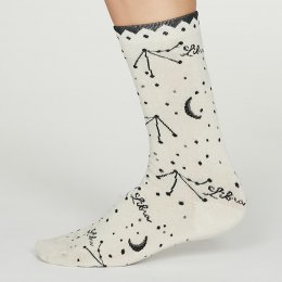 Thought Libra Zodiac Star Sign Bamboo Socks - UK4-7
