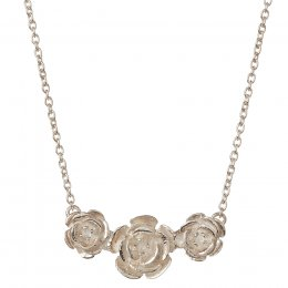 Kashka London Roses in a Row Sterling Silver Necklace