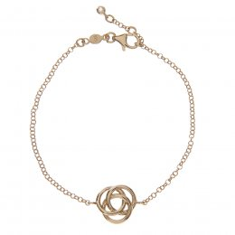 Kashka London Love Sterling Silver Yellow Gold Vermeil Bracelet