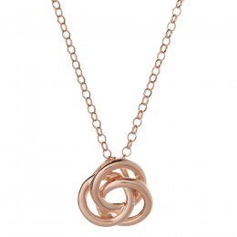 Kashka London Love Sterling Silver Rose Gold Vermeil Necklace