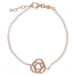 Kashka London Love Sterling Silver Rose Gold Vermeil Bracelet
