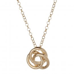 Kashka London Love Sterling Silver Yellow Gold Vermeil Necklace