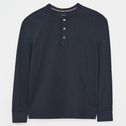 White Stuff Brook Fairtrade Henley T-Shirt - Navy