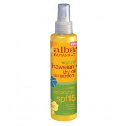 Alba Botanica Coconut Dry Body Oil Spray with SPF15 - 125ml