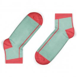 Unisock Kids Coral Stripe Ankle Socks