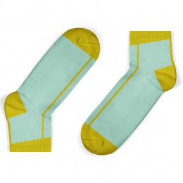 Unisock Kids Mustard Stripe Ankle Socks