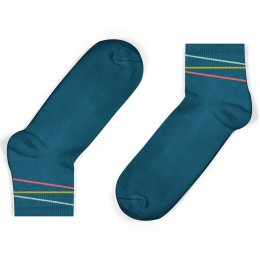Unisock Kids Legion Blue Multi-Coloured Diagonal Stripes Ankle Socks