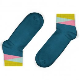 Unisock Kids Legion Blue Geom Ankle Socks
