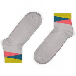 Unisock Kids Grey Geom Ankle Socks