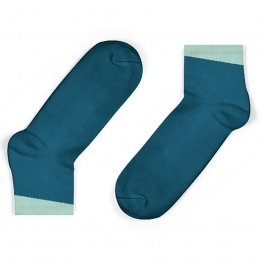 Unisock Kids Legion Blue Ankle Socks with Mint Angled Cuff