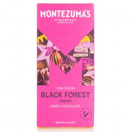 Montezumas Black Forest Dark Chocolate with Cherry Bar - 90g