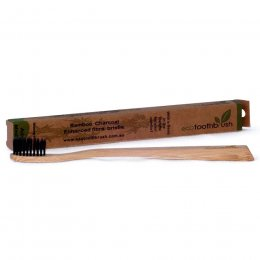 Ecotoothbrush Bamboo Charcoal Toothbrush - Medium