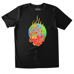 All Riot House on Fire Organic T-Shirt - Black