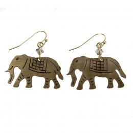 Gold Coloured Elephant Earrings