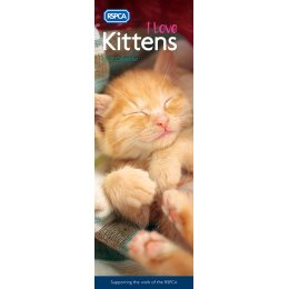 RSPCA I Love Kittens 2021 Slim Wall Calendar