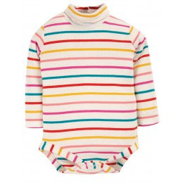 Frugi Ginger Rainbow Poppy Roll Neck Body