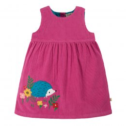 Frugi Foxglove Hedgehog Print Lily Cord Dress