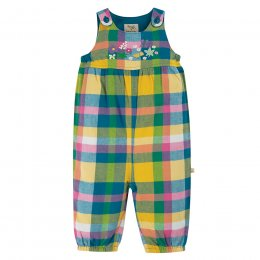 Frugi Bumble Bee Cleo Check Dungaree