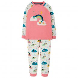 Frugi Guava Pink Rainbow Ace PJs