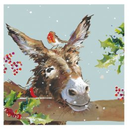 Donkey & Mistletoe Charity Christmas Cards - Pack of 10