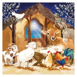 Around The Manger Charity Christmas Cards - Pack of 10