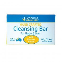 Grahams Natural Manuka Honey Cleansing Soap Bar- 100g
