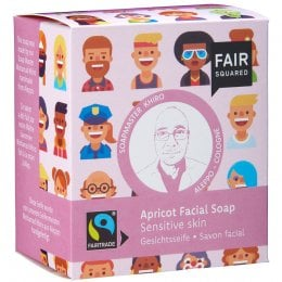 Fair Squared Apricot Facial Soap with Cotton Soap Bag - Sensitive Skin - 2 x 80g