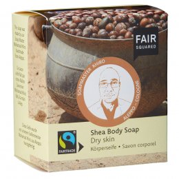 Fair Squared Shea Body Soap with Cotton Soap Bag - Dry Skin - 2 x 80g