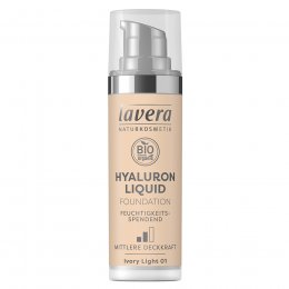 Lavera Hyaluron Liquid Foundation - Ivory Light - 30ml