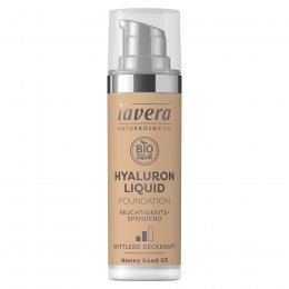 Lavera Hyaluron Liquid Foundation - Honey Sand - 30ml