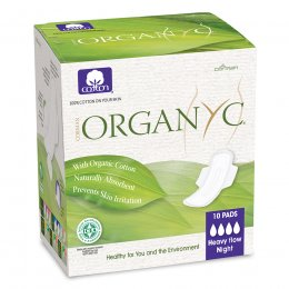Organyc Organic Cotton Night Heavy Flow Pads - Pack of 10