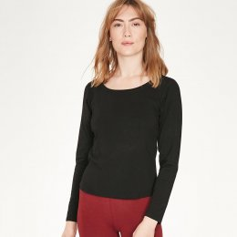 Thought Bamboo Base Layer Top - Black