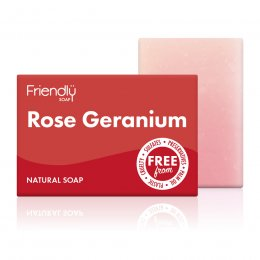 Friendly Soap Rose Geranium Soap Bar - 95g