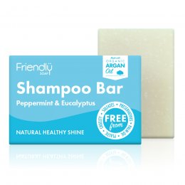Friendly Soap Peppermint & Eucalyptus Shampoo Bar - 95g