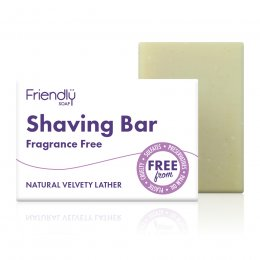 Friendly Soap Fragrance Free Shaving Bar - 95g