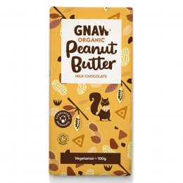 Gnaw Organic Peanut Butter Milk Chocolate - 100g
