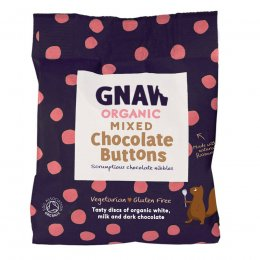 Gnaw Organic Handcrafted Buttons - Mixed 125g